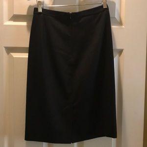 Elie Tahari Skirts - Elie Tahari Black Skirt with Front Pleats Design